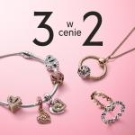 Pandora: przy zakupie 2 sztuk biżuterii, 3 sztuka gratis