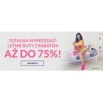 Pantofelek24: totalna wyprzedaż do 75% zniżki na letnie obuwie