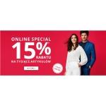 Peek & Cloppenburg: 15% rabatu na odzież damską, męską i dziecięcą