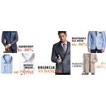 Próchnik: wyprzedaż do 80% zniżki na garnitury, marynarki, koszule, płaszcze i kurtki