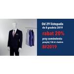 Próchnik: Black Friday 20% zniżki na odzież męską przy zamówieniu powyżej 150 zł