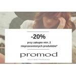 Promod: 20% zniżki na weekend