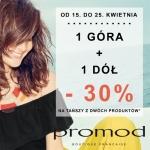 Promod: 30% zniżki na drugi produkt