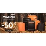 Puccini: 50% zniżki na czarne i pomarańczowe walizki