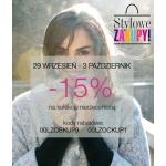 Quiosque: weekend zniżek 15% rabatu na kolekcję nieprzecenioną
