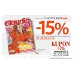 Quiosque: 15% zniżki z magazynem Claudia 22-24 kwietnia 2016
