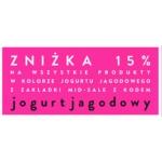 Risk: 15% zniżki na odzież damską w kolorze jogurtu jagodowego