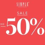 Simple: wyprzedaż do 50% zniżki