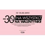 Sinsay: 30% zniżki na wszystko z okazji Walentynek