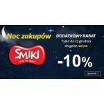 Smyk: dodatkowe 10% zniżki na zabawki marki Smiki