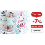 Smyk: 7% zniżki na zabawki i leżaczki dla niemowląt, karuzele i maty edukacyjne dla niemowląt marki Tiny Love
