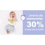 Smyk: 30% zniżki na drugą tańszą sztukę odzieży niemowlęcej