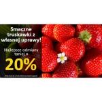 Świat Kwiatów: 20% zniżki na truskawki z własnej uprawy