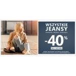 Szachownica: 40% rabatu na drugą sztukę jeansów