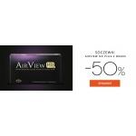 Szkła: wyprzedaż 50% zniżki na soczewki kontaktowe AirView HD Plus 2 Weeks