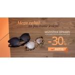 Szkła: 30% zniżki na oprawy i okulary przeciwsłoneczne