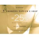 Tatuum: 25% zniżki na kolekcjęwiosna - lato 2017 z okazji 5 urodzin e-sklepu