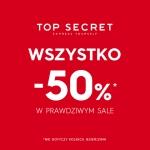 Top Secret: wyprzedaż 50% zniżki na wszystko