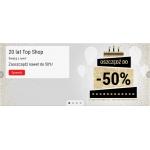 Top Shop: do 50% rabatu z okazji urodzin