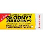 Karta studencka Toruń Plaza zniżki do 50%