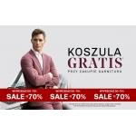 Vistula: przy zakupie garnituru koszula GRATIS