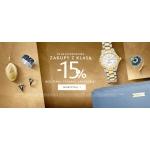 W.Kruk: Zakupy z Klasą 15% zniżki na biżuterię, zegarki i akcesoria
