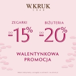 W. Kruk: Walentynkowa promocja do 15% zniżki na zegarki, do 20% zniżki na biżuterię