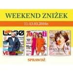 Weekend Zniżek z Wysokie Obcasy Extra, Avanti i Logo 11-13 marca 2016