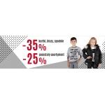 Wójcik: 35% zniżki na kurtki, bluzy, spodnie oraz 25% zniżki na pozostały asortyment