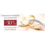 Arenart Forever: 30% rabatu na wszystkie modele obrączek slubnych