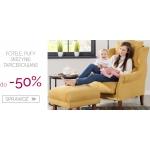 Dekoria: wyprzedaż do 50% zniżki na fotele, pufy i skrzynie tapicerowane