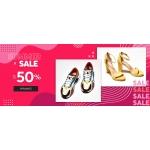 Eobuwie: wyprzedaż do 50% zniżki na obuwie damskie i męskie, torby oraz akcesoria