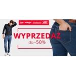 Lee Wrangler: do 50% zniżki na odzież i obuwie renomowanych marek