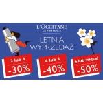 L'Occitane: 30% zniżki, 40% zniżki i 50% zniżki na kosmetyki  w zależności od ilości zakupów