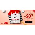Sephora: 20% rabatu na wszystko z okazji 3 urodzin sklepu internetowego