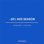 Oysho: wyprzedaż międzysezonowa do 30% zniżki