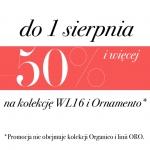 Deni Cler Milano: 50% i więcej rabatu na kolekcję WL16 i Ornamento