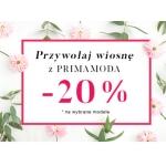 Primamoda: 20% rabatu na wybrane modele obuwia damskiego i dodatki