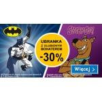 Smyk: 30% zniżki na ubrania z Batmanem i Scooby-Doo