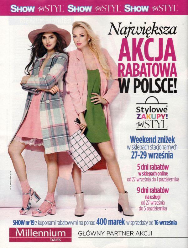 Weekend Zniżek z magazynami Twój Styl i Show - Stylowe Zakupy w całej Polsce 27-29 września 2019                         title=