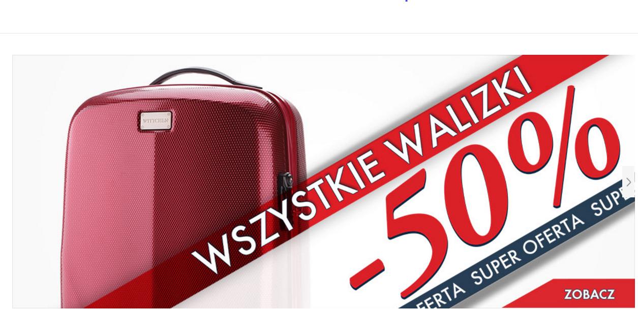 Wittchen: 50% rabatu na wszystkie walizki                         title=