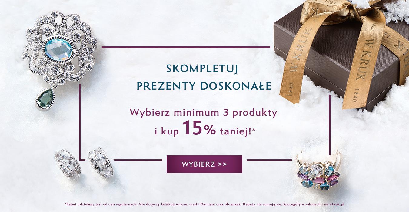 W.Kruk: 15% zniżki przy zakupie min. 3 produktów