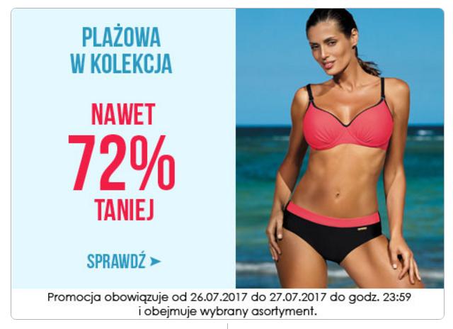 Wyprzedaże Bielizny: do 72% zniżki na kostiumy kąpielowe