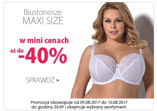 Wyprzedaże Bielizny: do 40% rabatu na biustonosze Maxi Size
