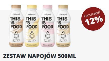 YFood: 12% rabatu na zestaw napojów półlitrowych przy zakupie 24 butelek